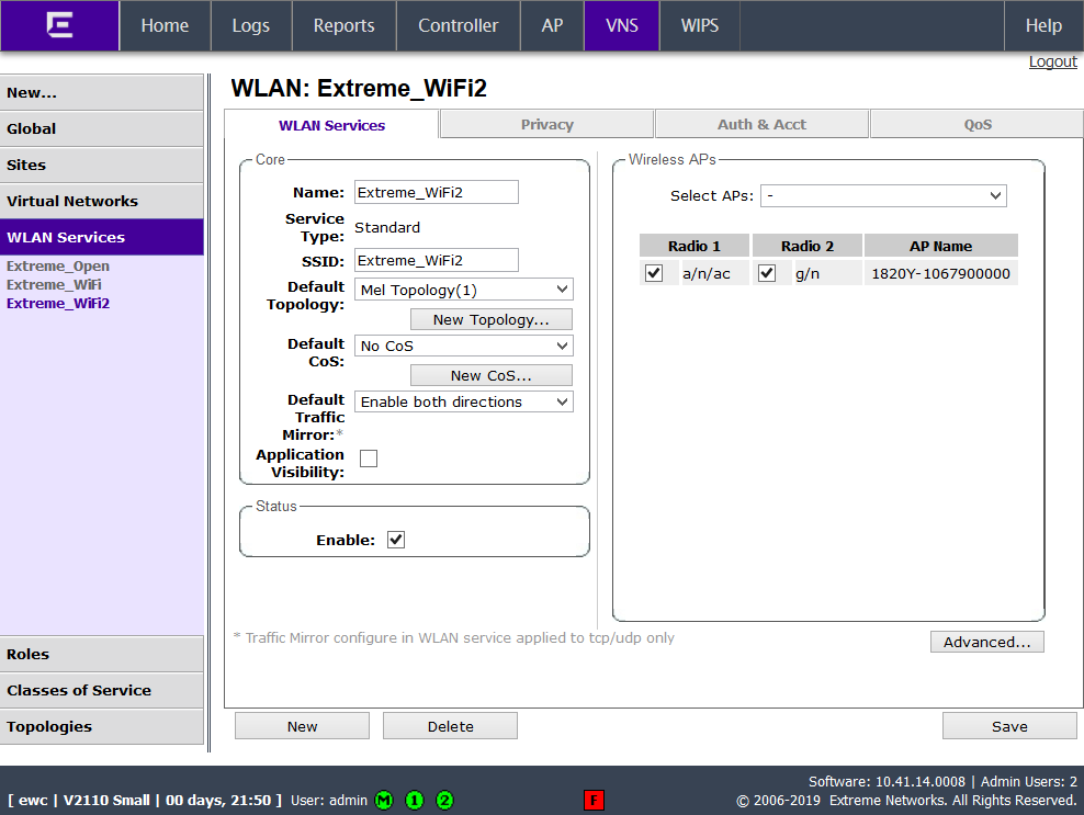 Extreme Networks (EWC controller) – Help Center