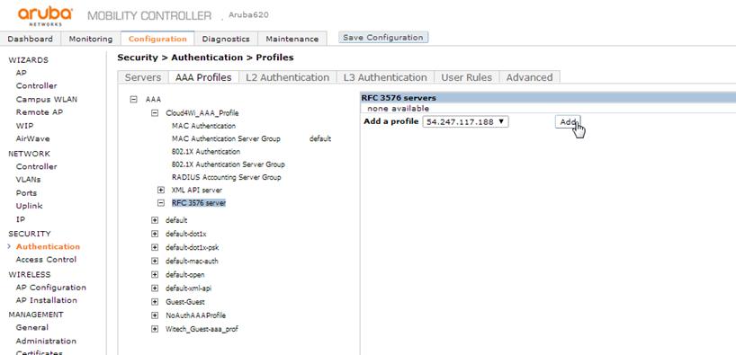 Aruba Networks (HP) - Mobility Controller – Help Center